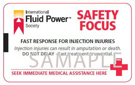 Picture for category Fluid Injection Safety Cards