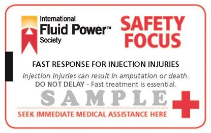 Picture of Fluid Injection Safety Cards -100 pack